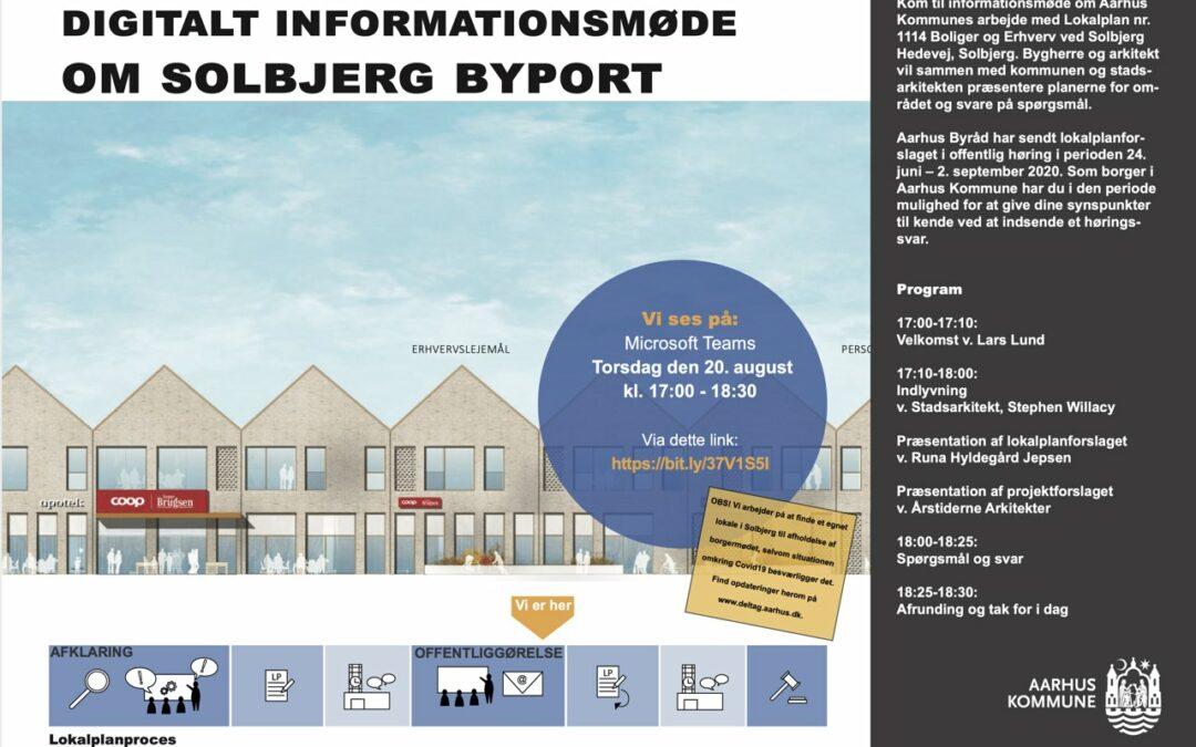 Digitalt borgermøde om Solbjerg Bytorv